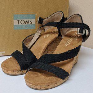 Womens TOMS Wedges Sandals CLARISSA Size 8.5